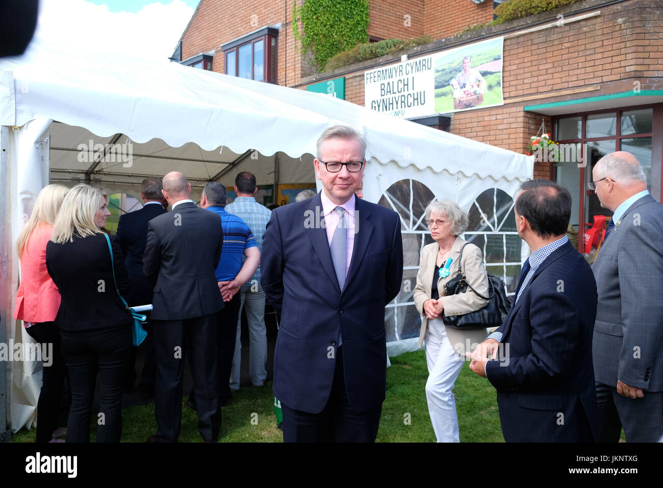 Royal Welsh Show - Monday 24th July 2017 - Michael Gove Secretary of State for Environment, Food and Rural Affairs - Stock Image