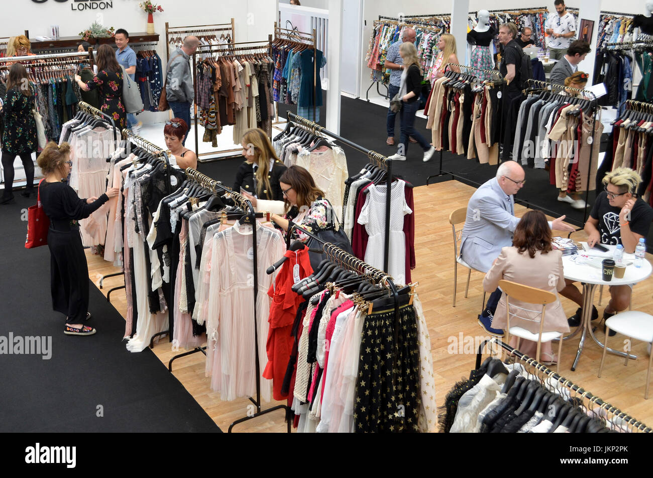 Trade Stands Olympia : Fashion buyers view the trade stands at pure london olympia london