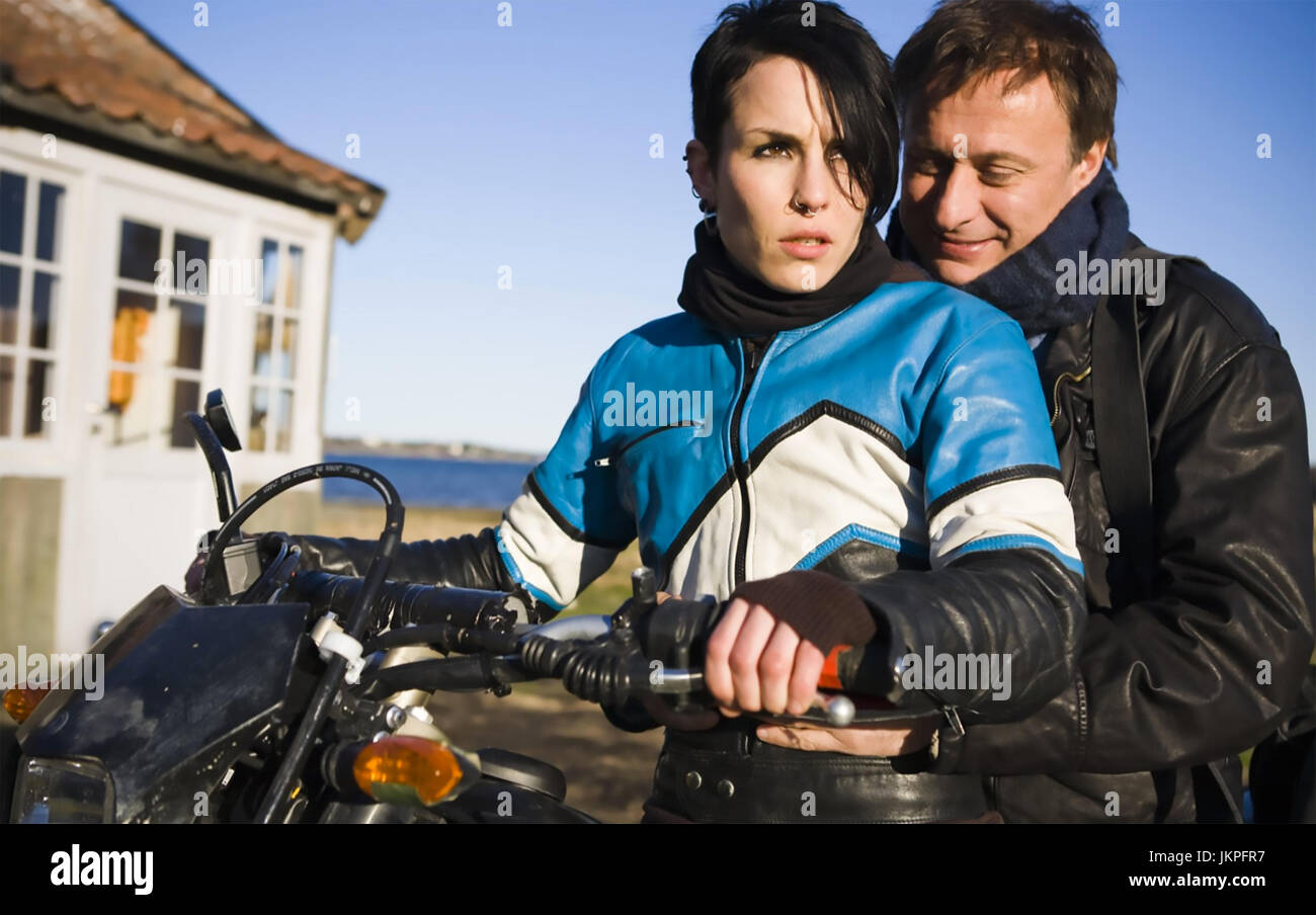THE GIRL WITH THE DRAGON TATTOO 2009 Yellow Bird film with Noomi Rapace and Michael Nyqvist - Stock Image