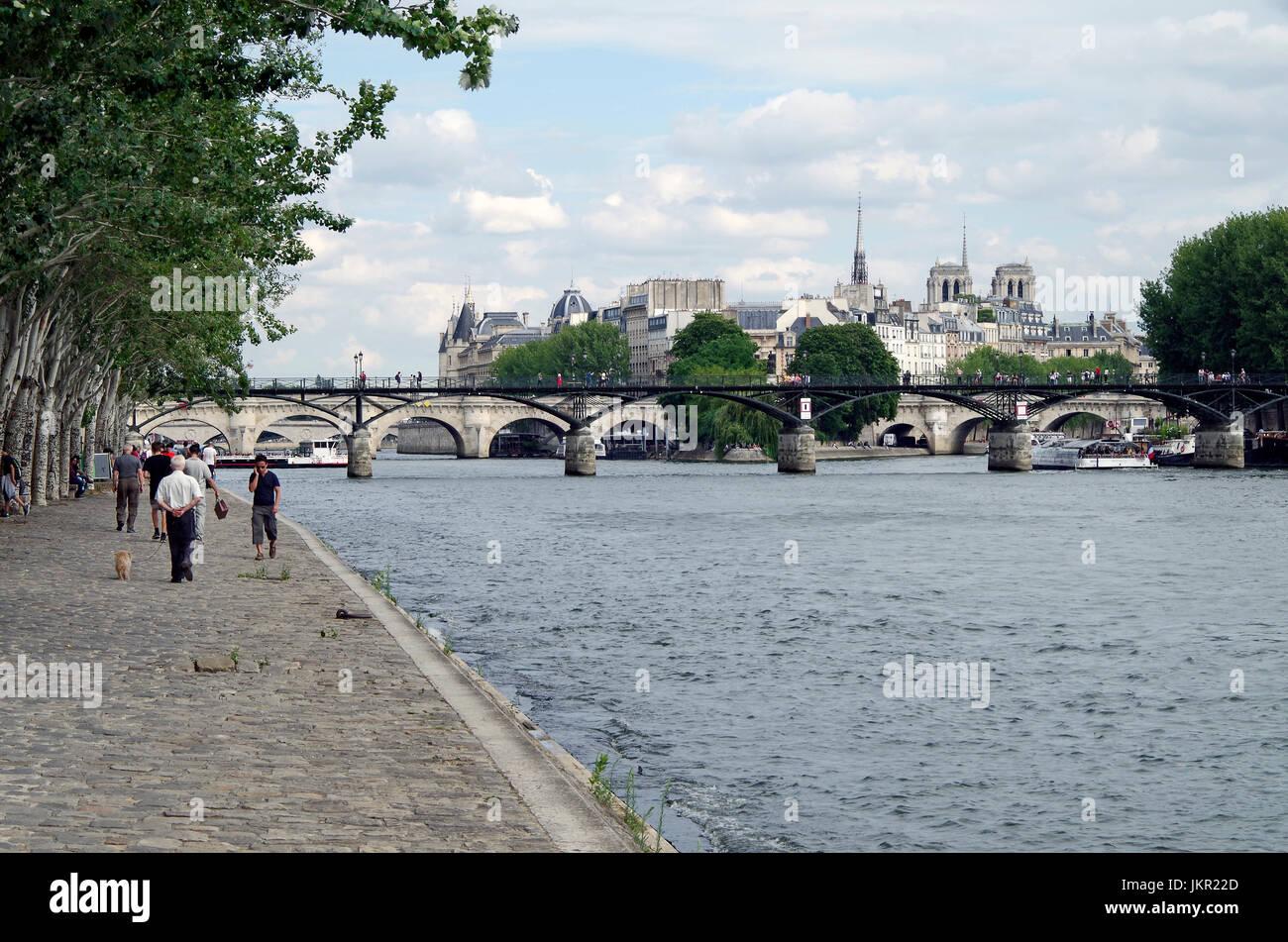 Paris, France, view of Ile de la Cite, River Seine Stock Photo