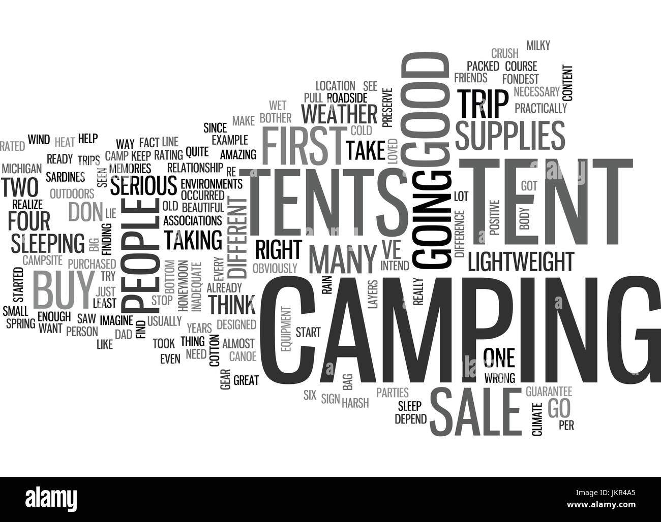 TENTS FOR SALE Text Background Word Cloud Concept - Stock Image