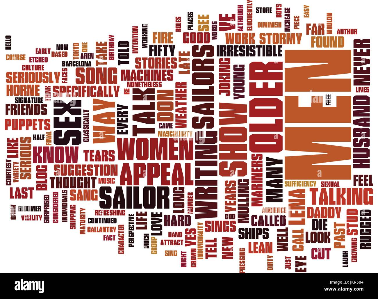 THE APPEAL OF OLDER MEN Text Background Word Cloud Concept - Stock Vector