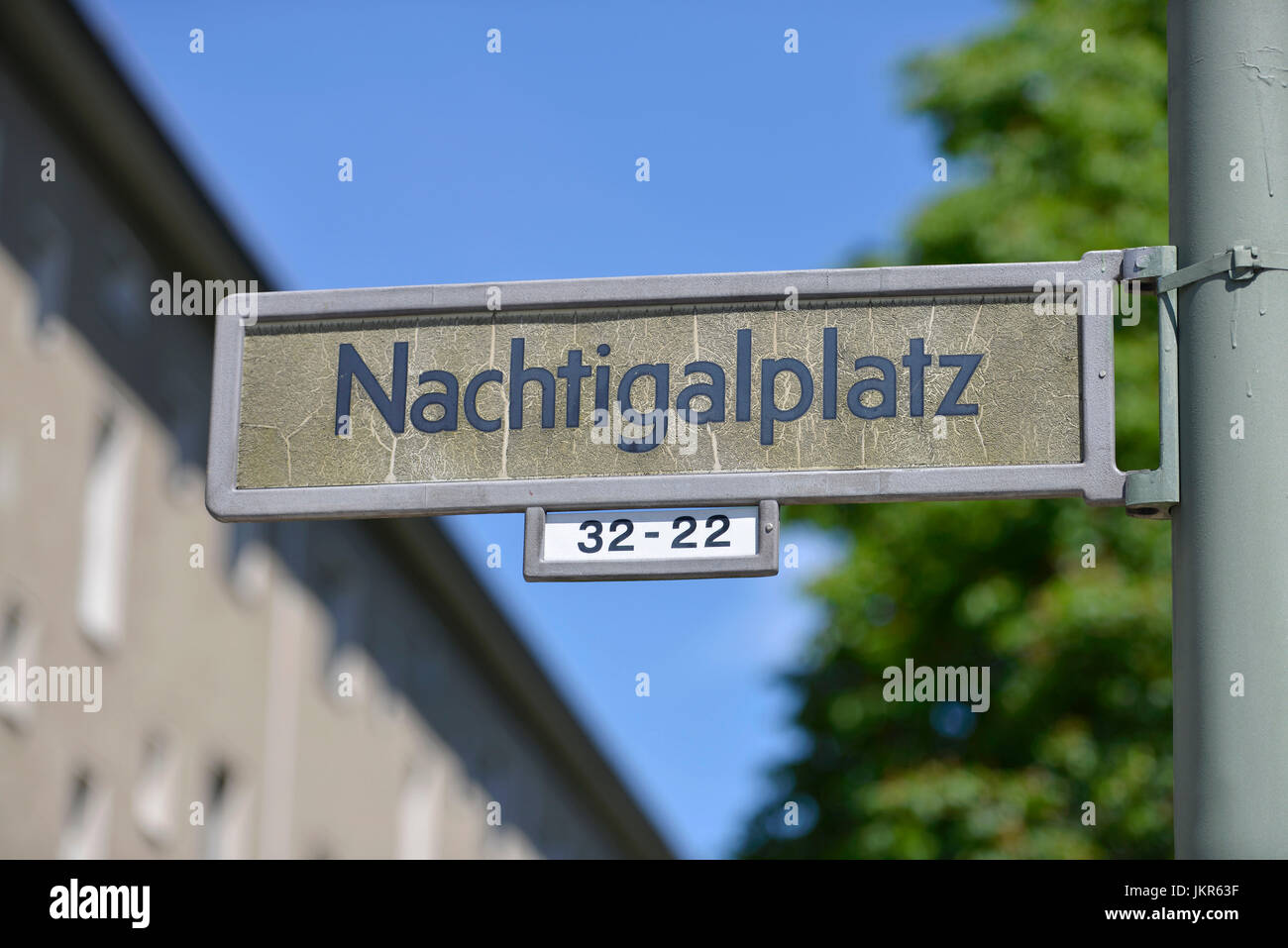 Street sign, African quarter, Wedding, middle, Berlin, Germany, Strassenschild, Afrikanisches Viertel, Mitte, Deutschland - Stock Image