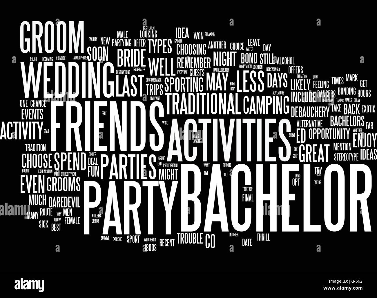 the best bachelor party ideas text background word cloud concept