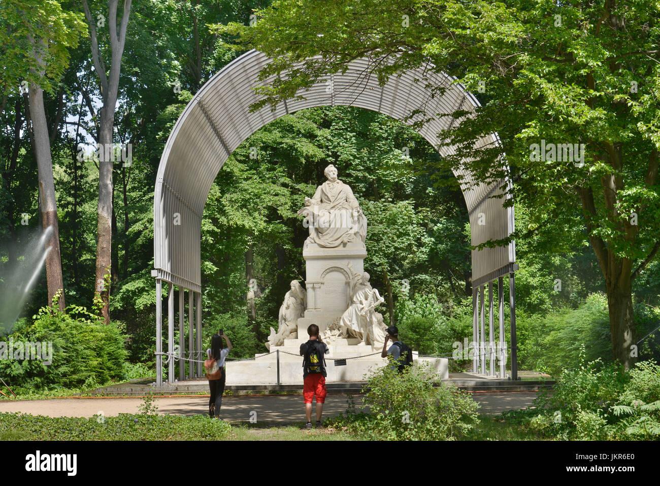 Wagner's monument, big zoo, zoo, middle, Berlin, Germany, Wagnerdenkmal, Grosser Tiergarten, Tiergarten, Mitte, - Stock Image