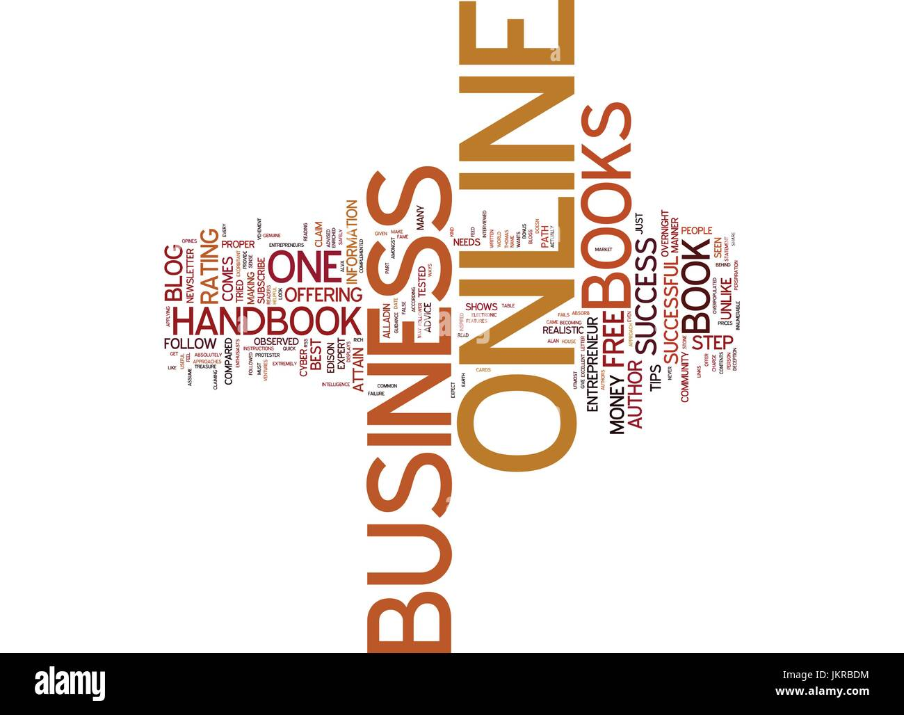 THE ONLINE BUSINESS HANDBOOK A MUST READ FOR ONLINE ENTREPRENEURS Text Background Word Cloud Concept - Stock Vector