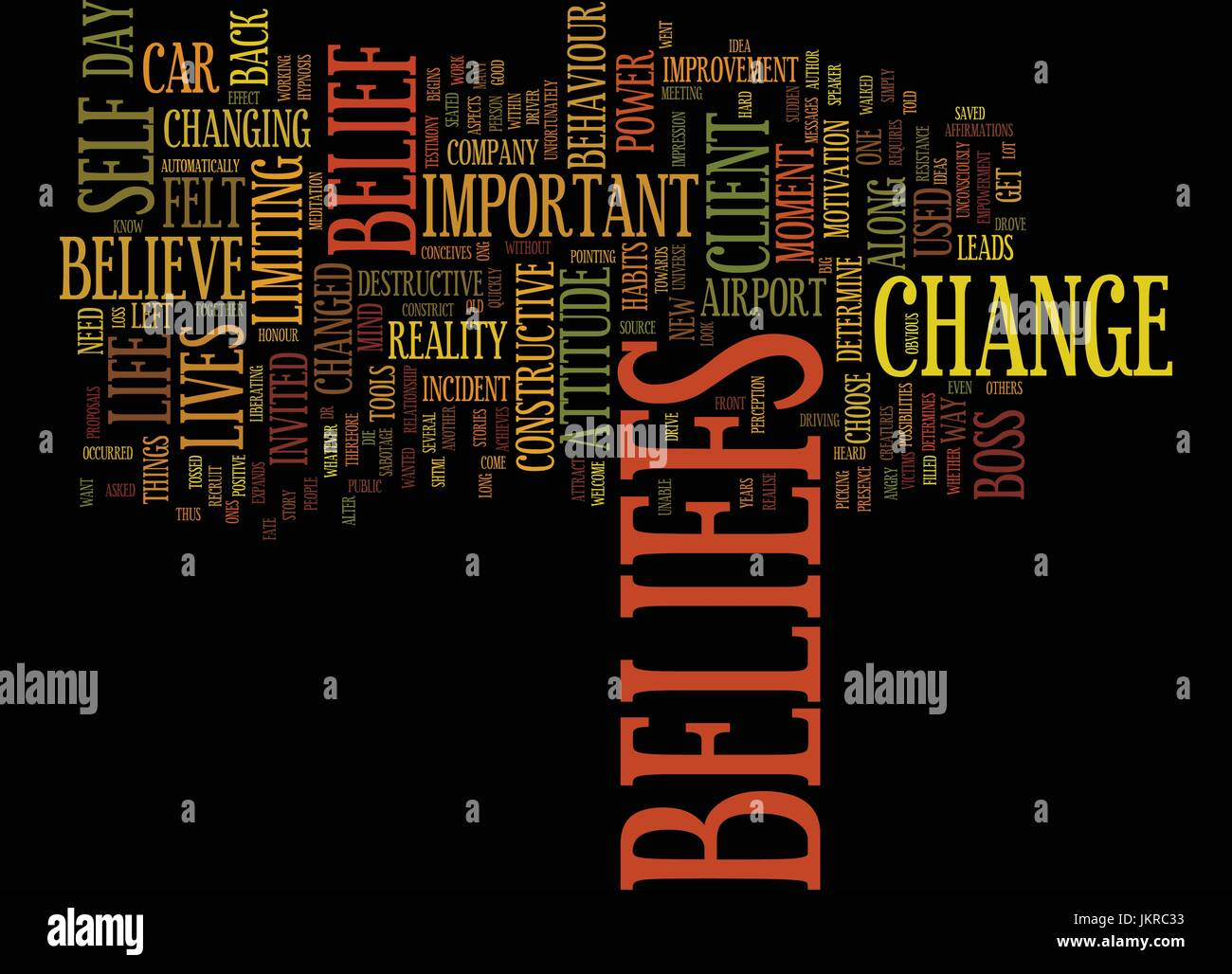 THE POWER OF BELIEFS Text Background Word Cloud Concept - Stock Vector