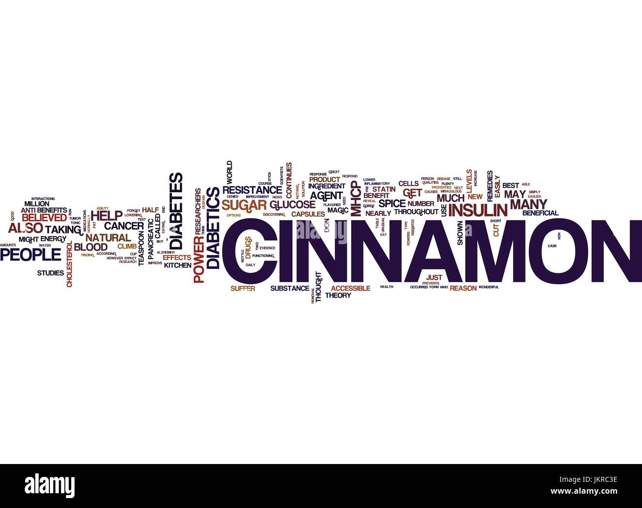 THE POWER OF CINNAMON Text Background Word Cloud Concept Stock Vector