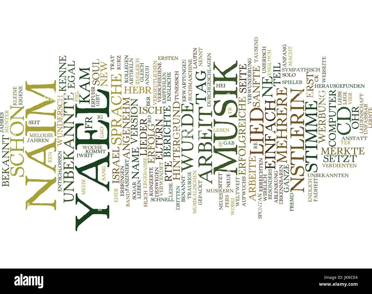 Yael Naim was fr eine Knstlerin Text Background Word Cloud Concept - Stock Vector