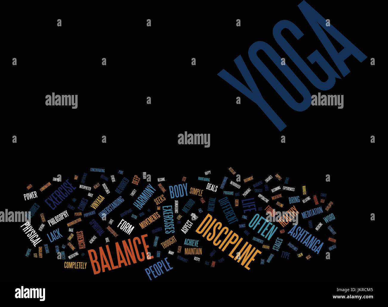 YOGA AS A LIFE PHILOSOPHY Text Background Word Cloud Concept - Stock Vector