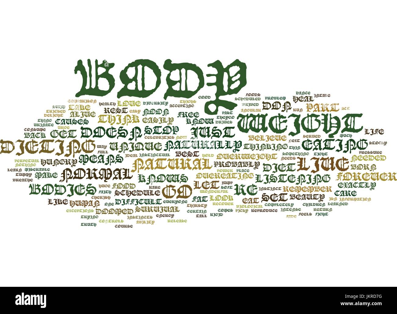 YOU ARE NOT DOOMED TO BE FAT FOREVER Text Background Word Cloud Concept - Stock Vector