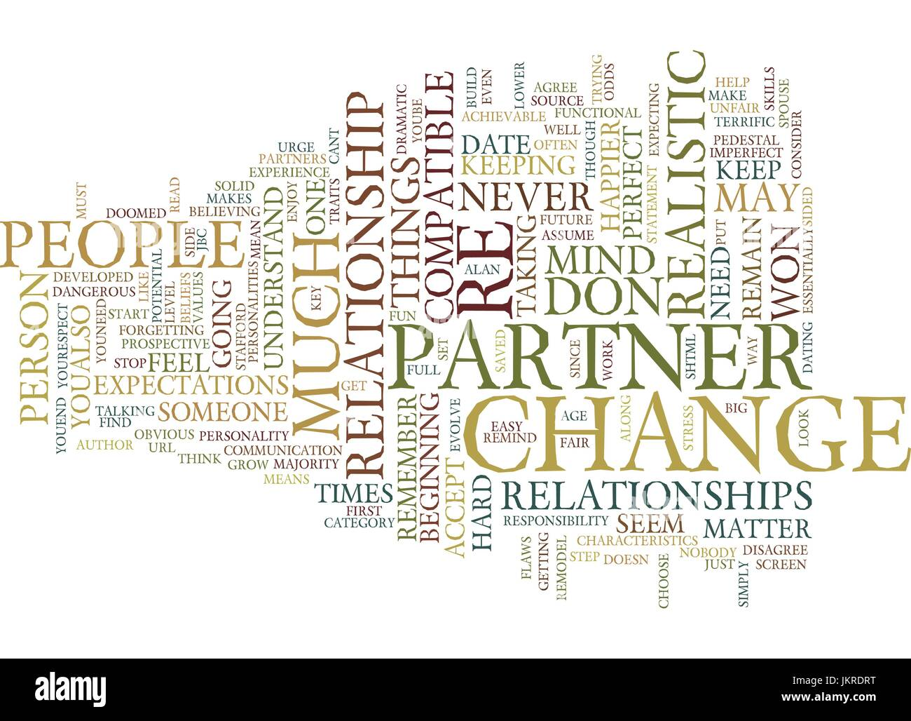 YOU CANT CHANGE HIM JBC Text Background Word Cloud Concept - Stock Vector