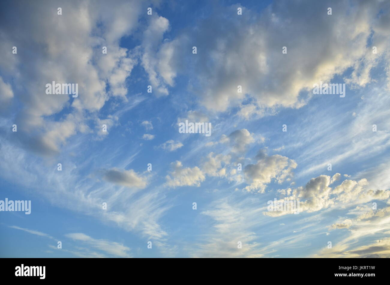 clouds at dusk - Stock Image