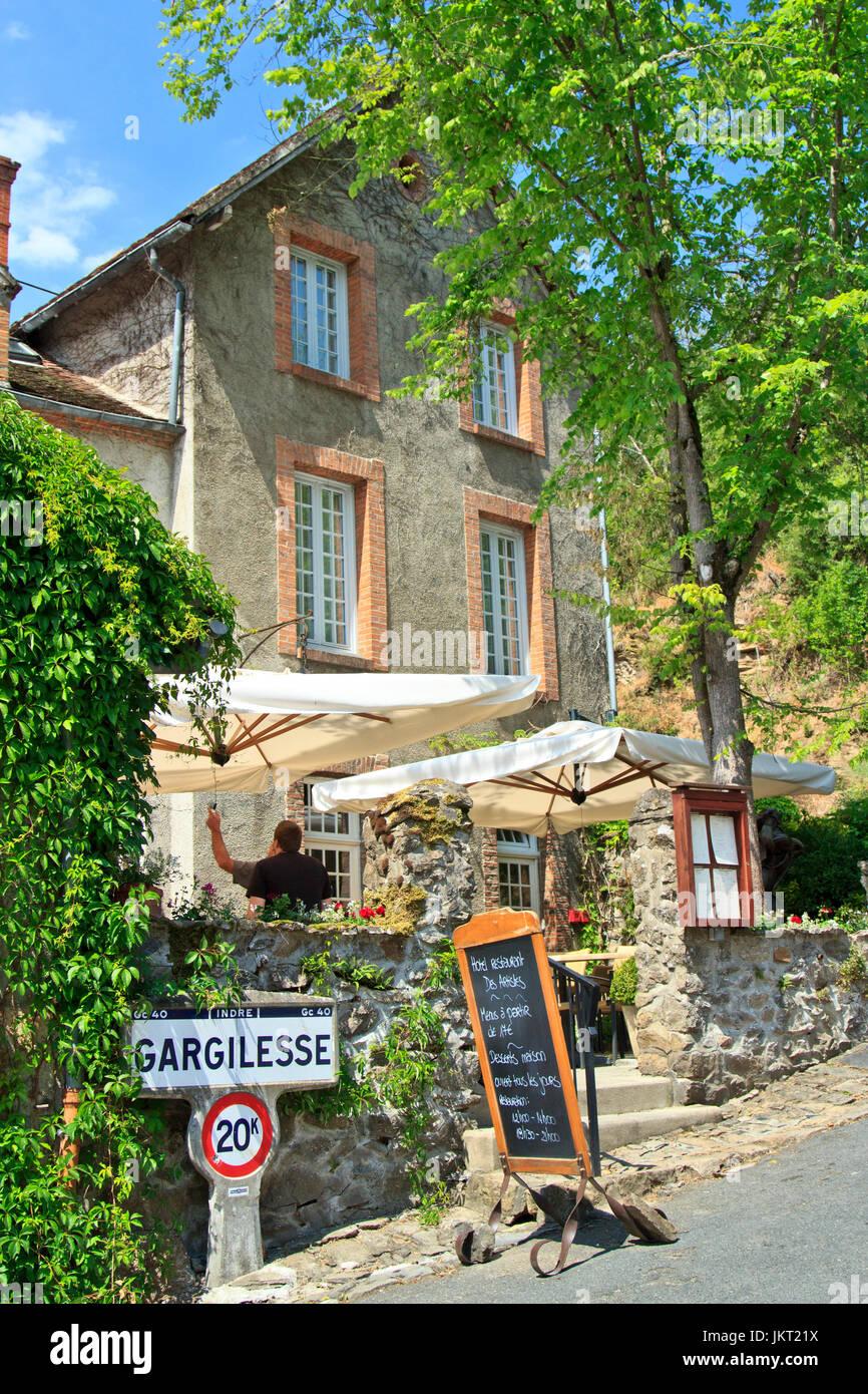 France, Indre(36), le Berry, vallée de la Creuse, Gargilesse-Dampierre, labellisé Les Plus Beaux Villages - Stock Image