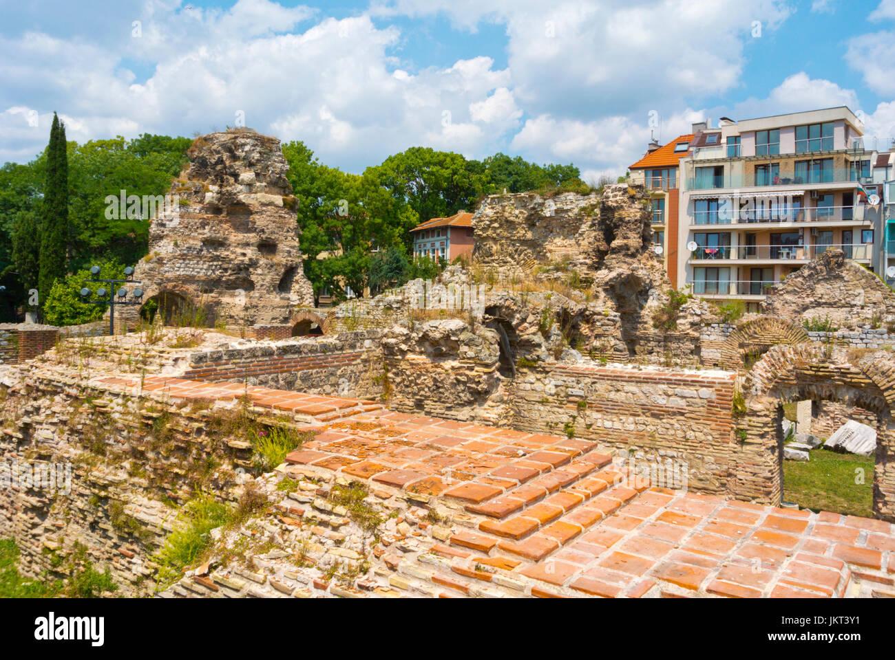 Newer Roman thermae, Roman era thermal baths, Varna, Bulgaria - Stock Image