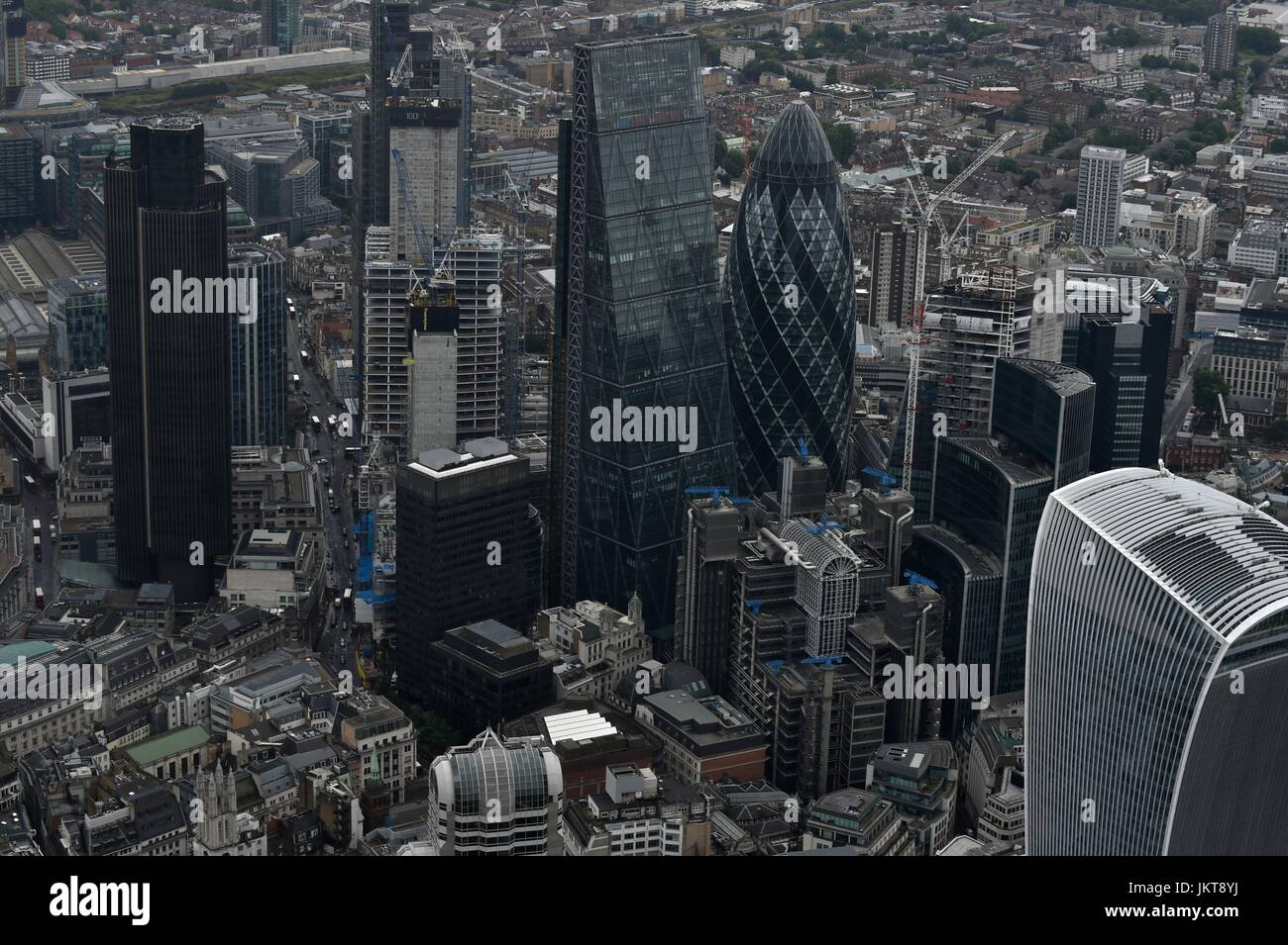 Aerial views over London - Stock Image