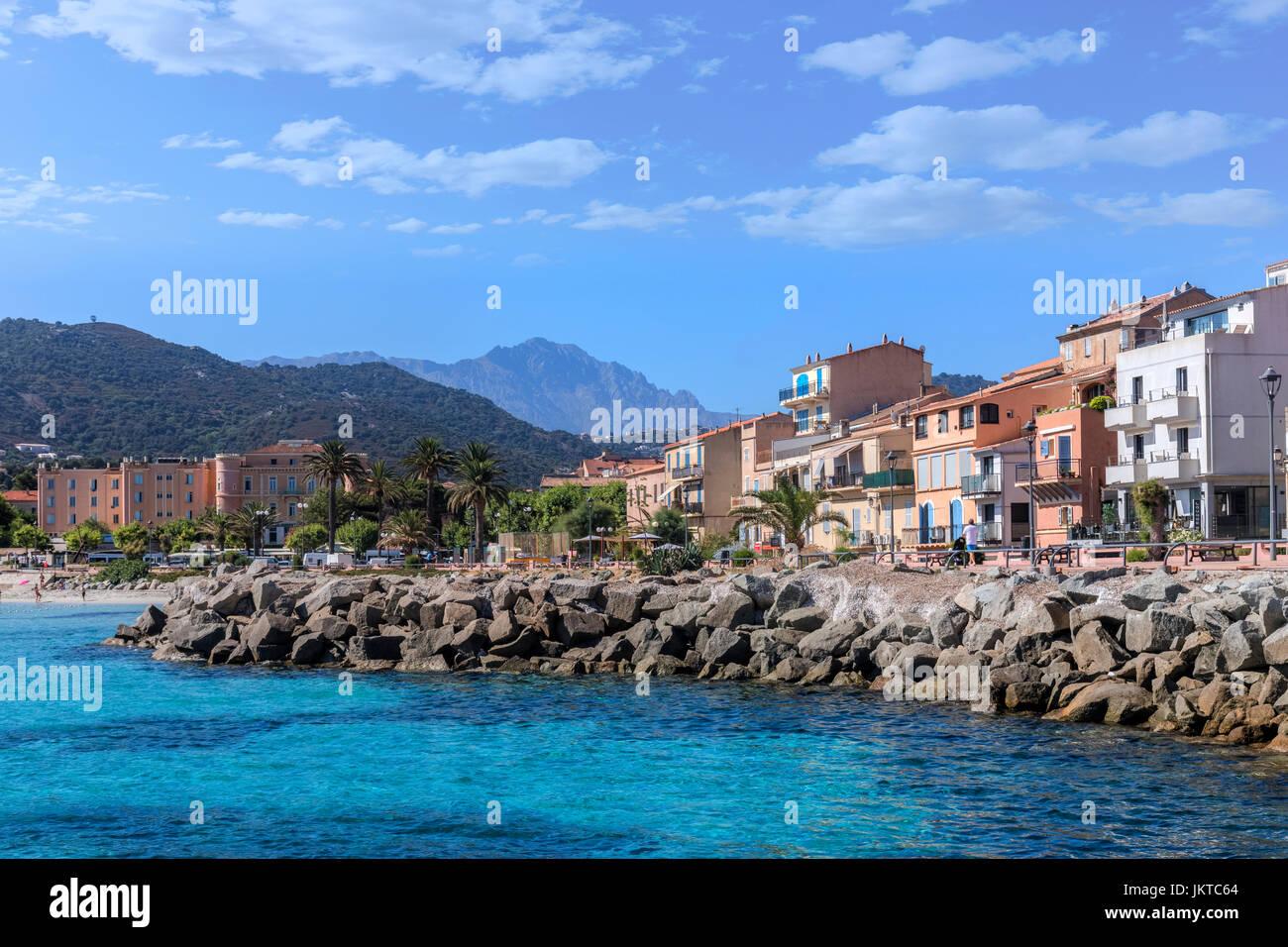 L'ile Rousse, Balagne, Corsica, France Stock Photo