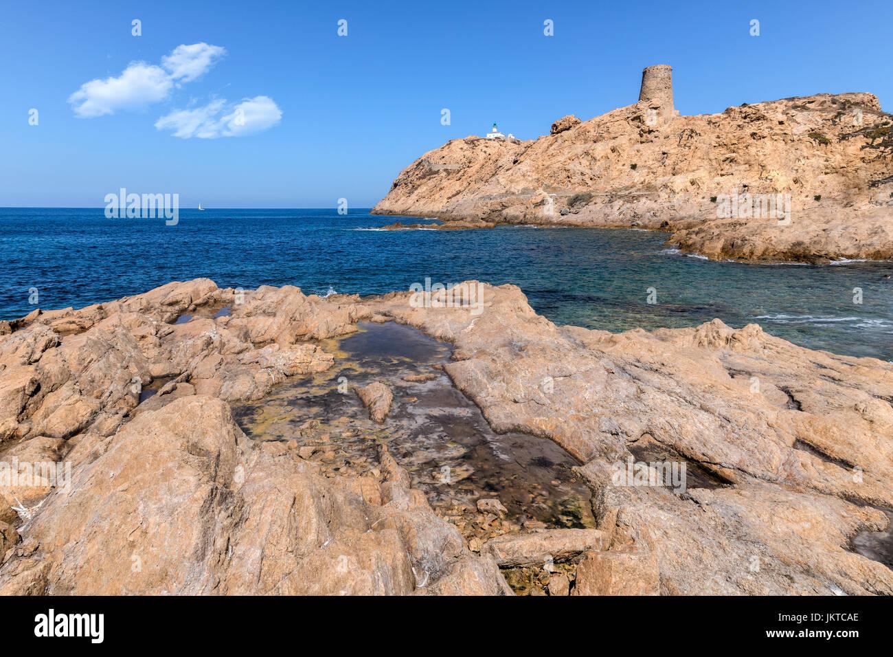 L'ile Rousse, Balagne, Corsica, France - Stock Image