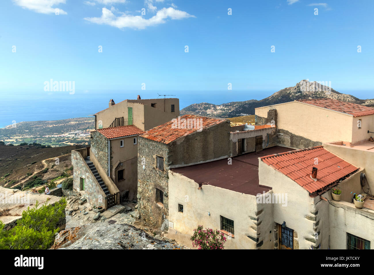 Sant'Antonino, Corsica, France - Stock Image