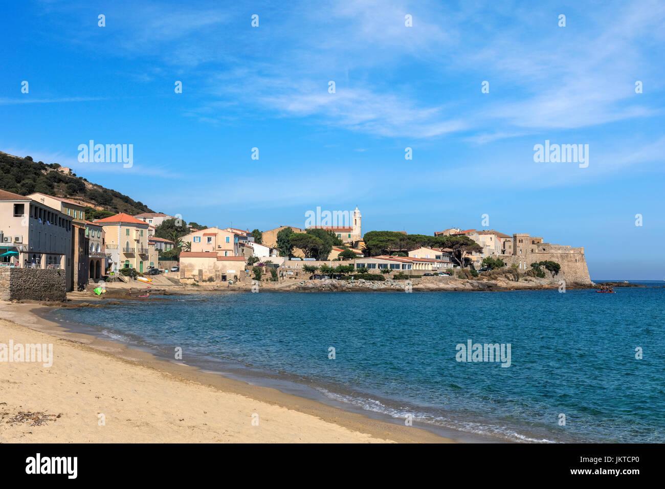 Algajola, Corsica, Balagne, France - Stock Image