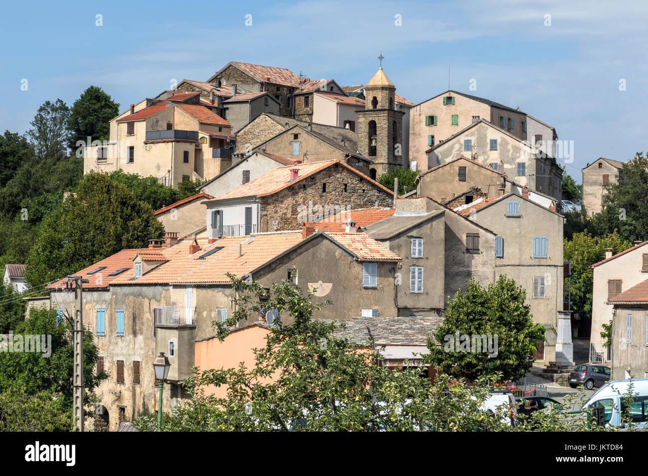 Riventosa, Haute-Corse, Corsica, France - Stock Image