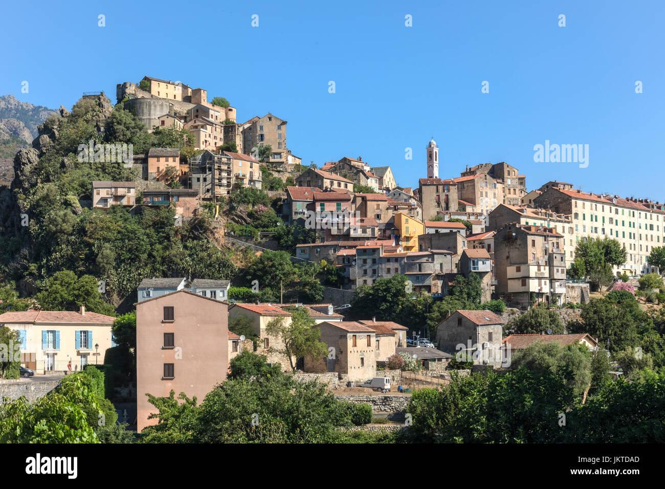 Corte, Haute-Corse, Corsica, France - Stock Image
