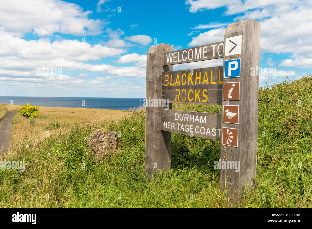 Blackball Rocks, County Durham, UK - Stock Image