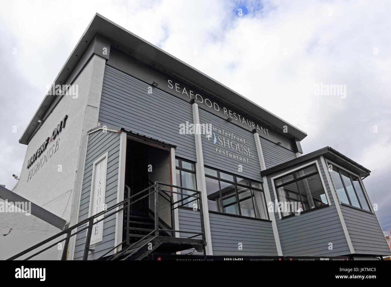 Waterfront Seahouse Restaurant, Oban, Scotland - Stock Image