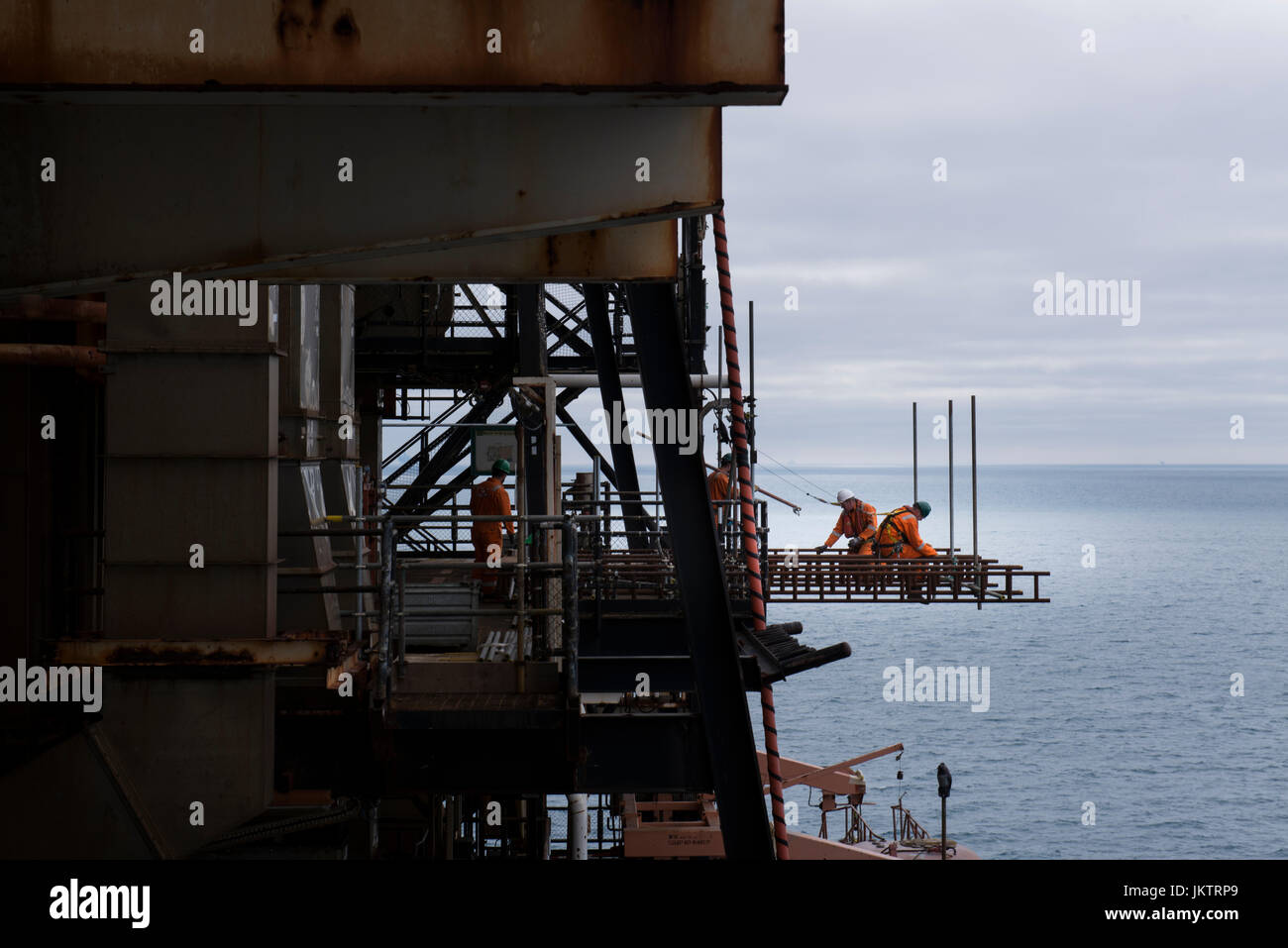 Petrofac as duty holder on BP Miller oil gas north sea installation.  credit: LEE RAMSDEN / ALAMY - Stock Image