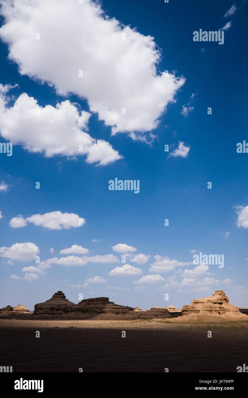 Gobi desert, Gansu Province, China - Stock Image