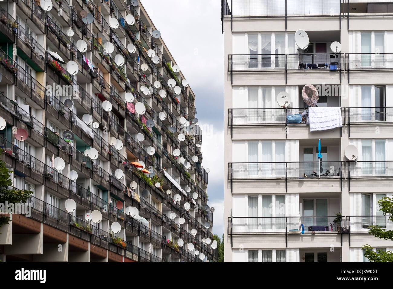 Social housing apartment blocks at Pallasseum on Pallastrasse in Schoeneberg district of Berlin, Germany. - Stock Image