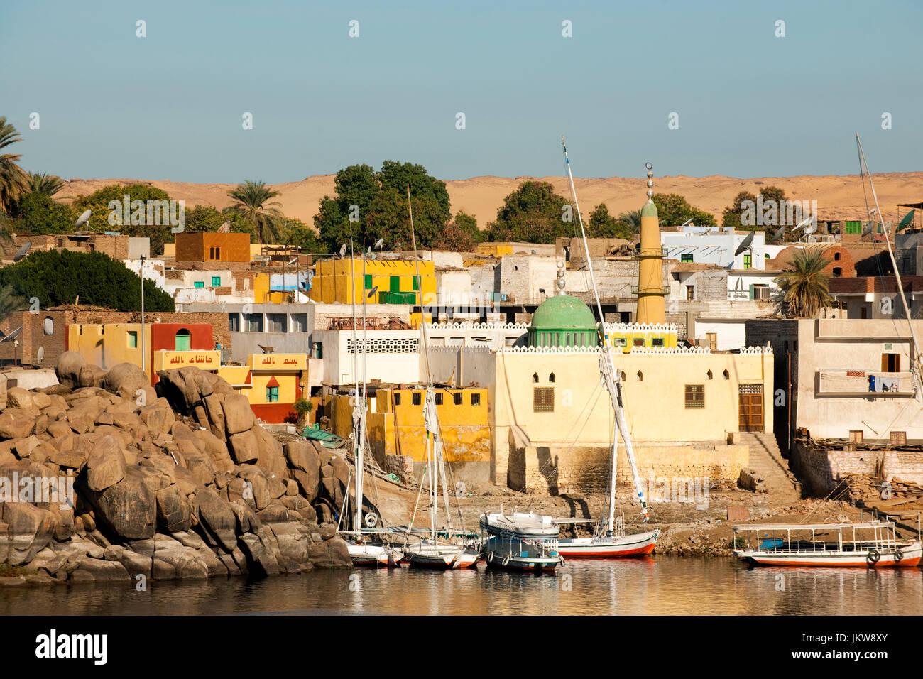 Aegypten, Assuan, nubisches Dorf auf der Insel Elephantine - Stock Image