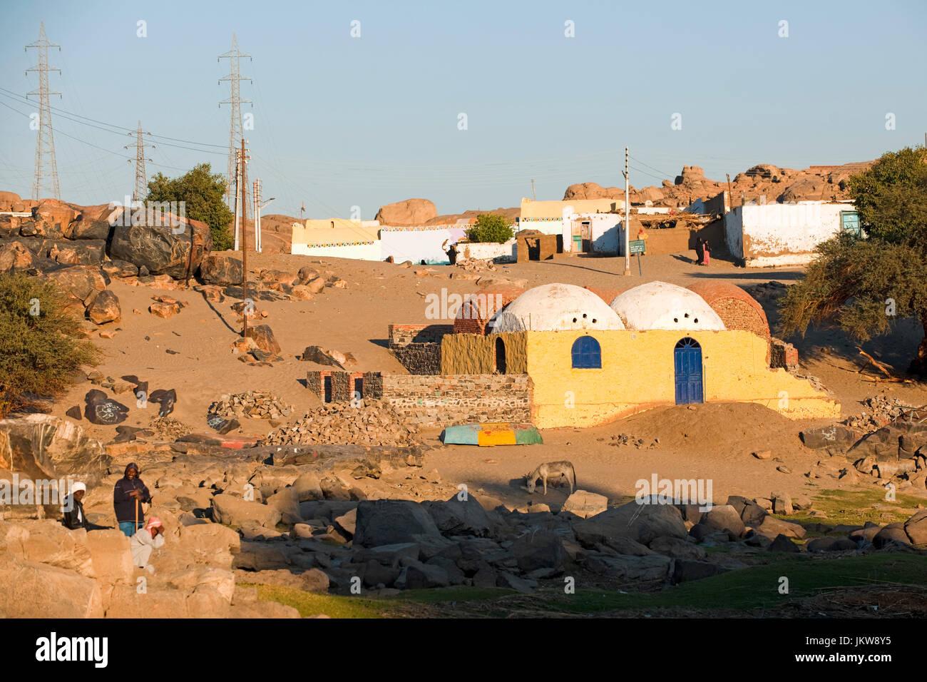 Aegypten, Assuan, nubisches Dorf - Stock Image