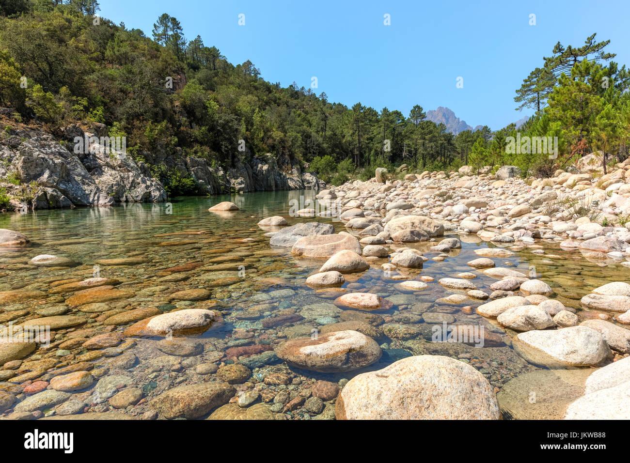 Solenzara Gorge, Sari-Solenzara, Corsica, France Stock Photo