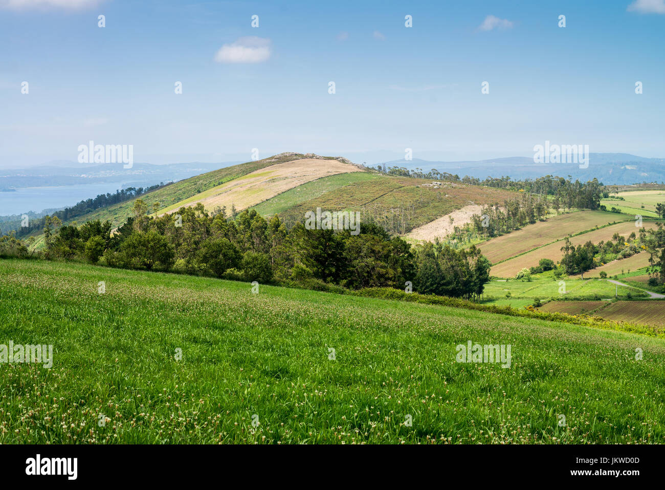 Landscape of the Galicia, Camino de Santiago, Spain, Europe. - Stock Image
