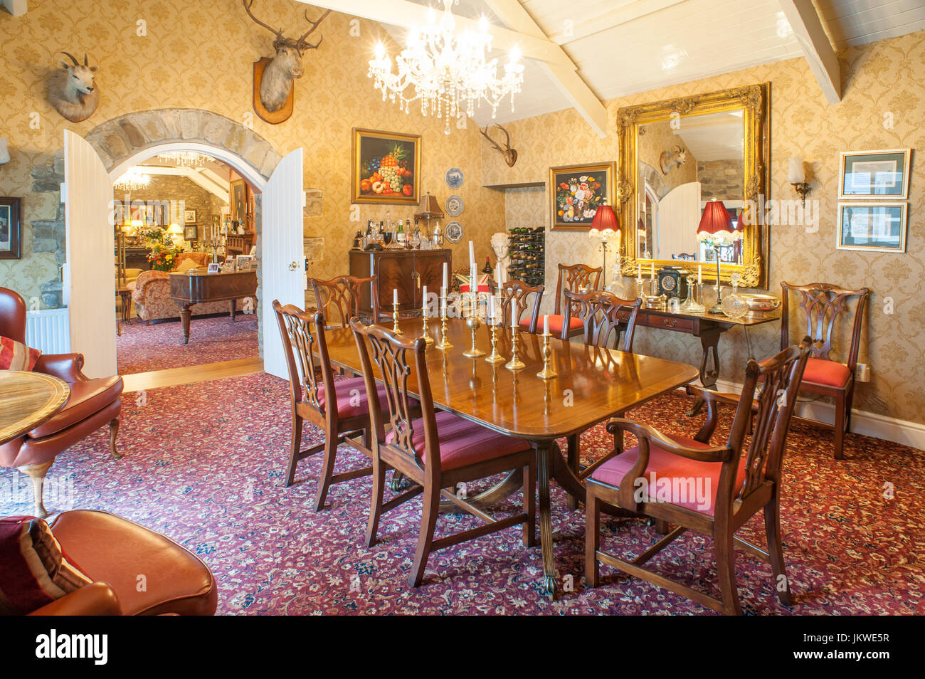 Formal dining room - Stock Image
