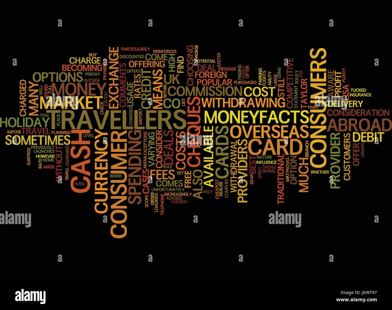 YOUR HOLIDAY MONEY COULD COST YOU DEAR Text Background Word Cloud Concept - Stock Vector