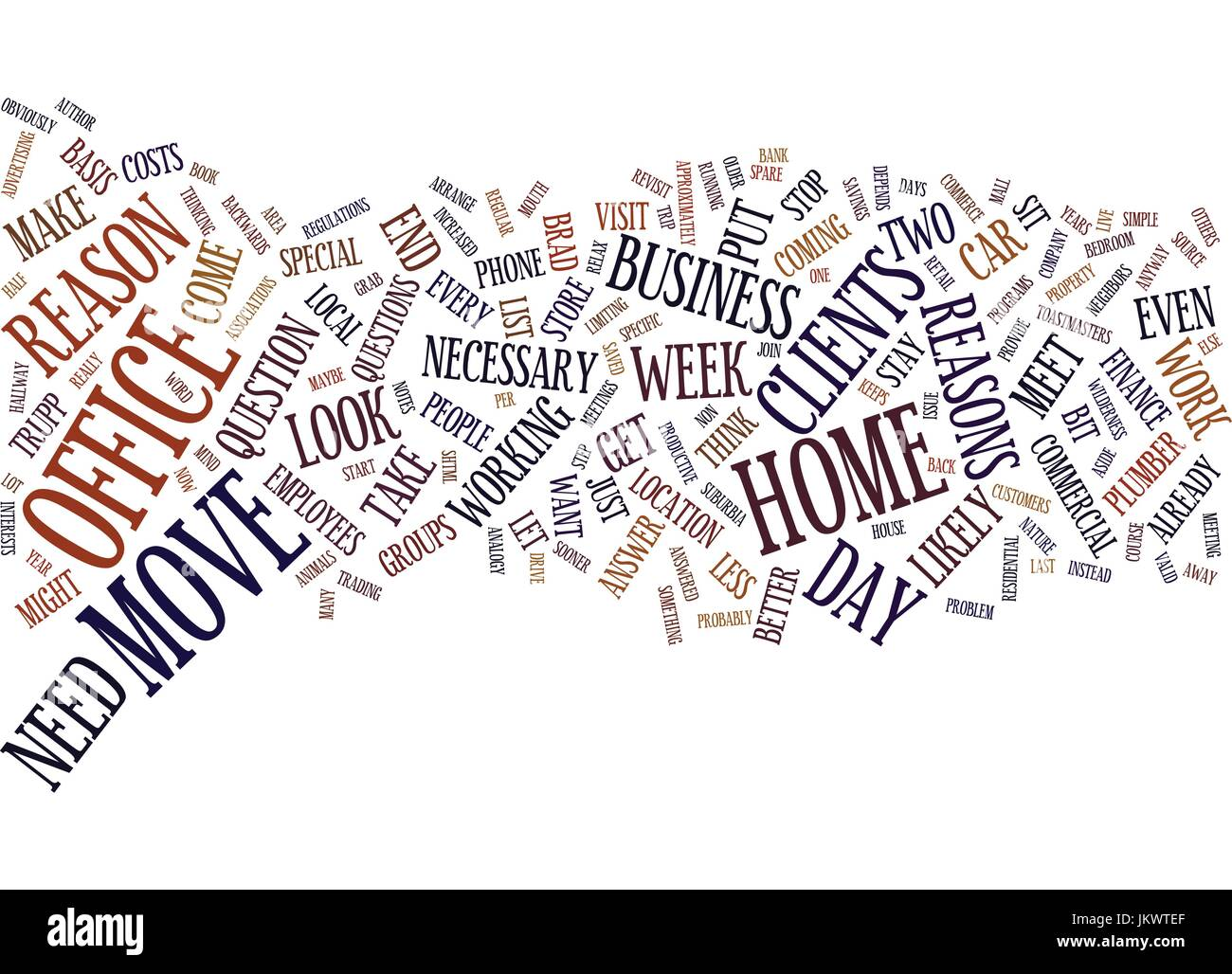 YOUR HOME OFFICE STAY PUT OR MOVE OUT Text Background Word Cloud Concept - Stock Image
