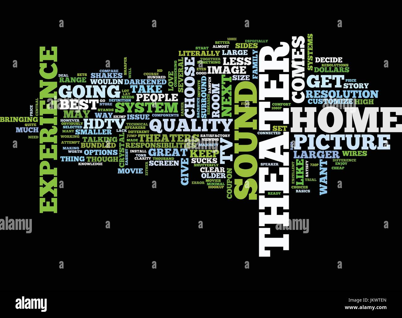 YOUR HOME THEATER HOW TO HOOKUP Text Background Word Cloud Concept ...