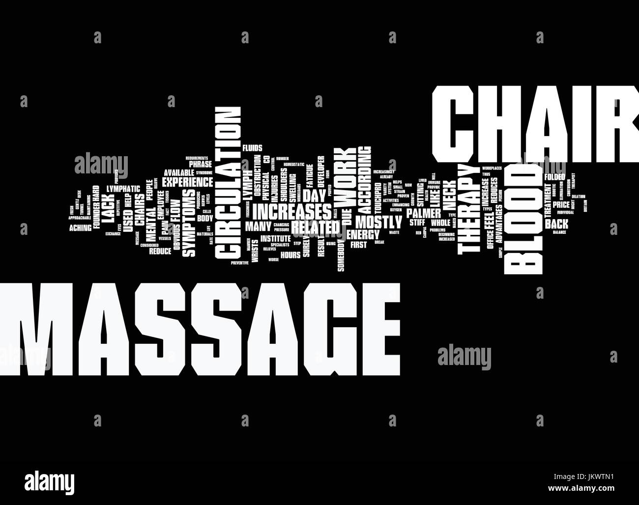 YOUR MASSAGE CHAIR YOU LL WONDER HOW YOU EVER LIVED WITHOUT IT Text Background Word Cloud Concept - Stock Vector