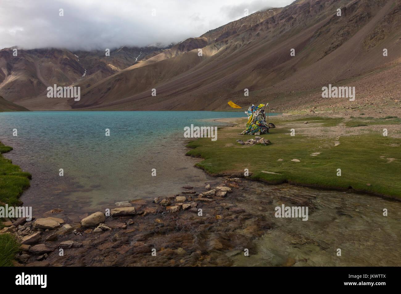 Chandra Taal Lake - Stock Image