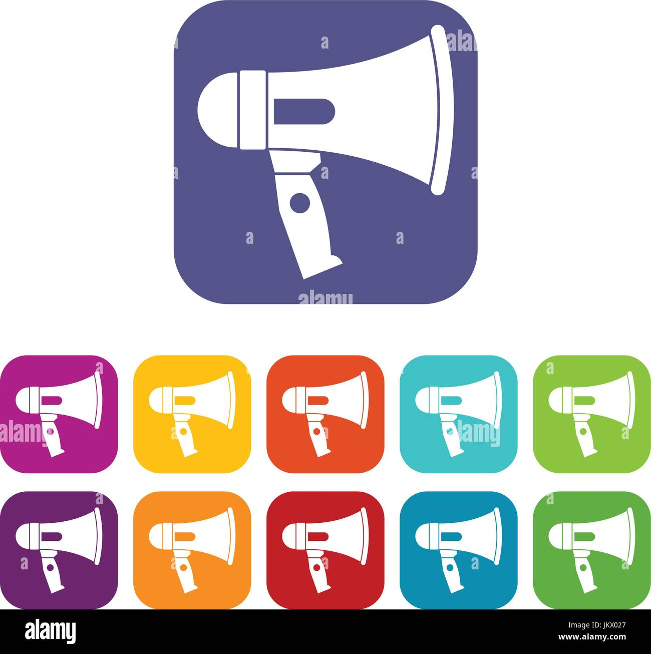 Mouthpiece icons set - Stock Image
