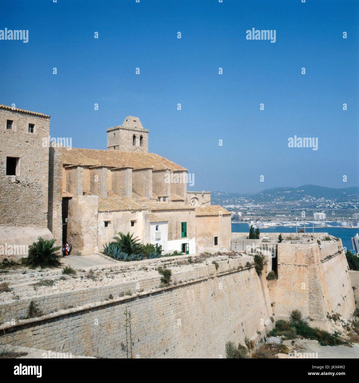 Blick auf die Villegaignon Street in Mdina auf Malta, Spanien 1980er Jahre. View to Villegaignon Street at Mdina - Stock Image