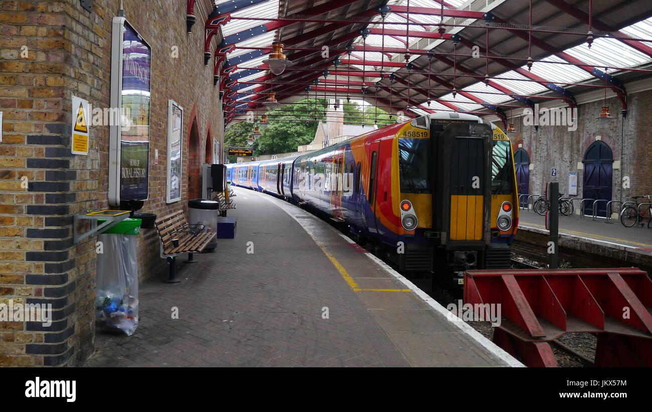 Eton and Windsor Rail Station - Stock Image