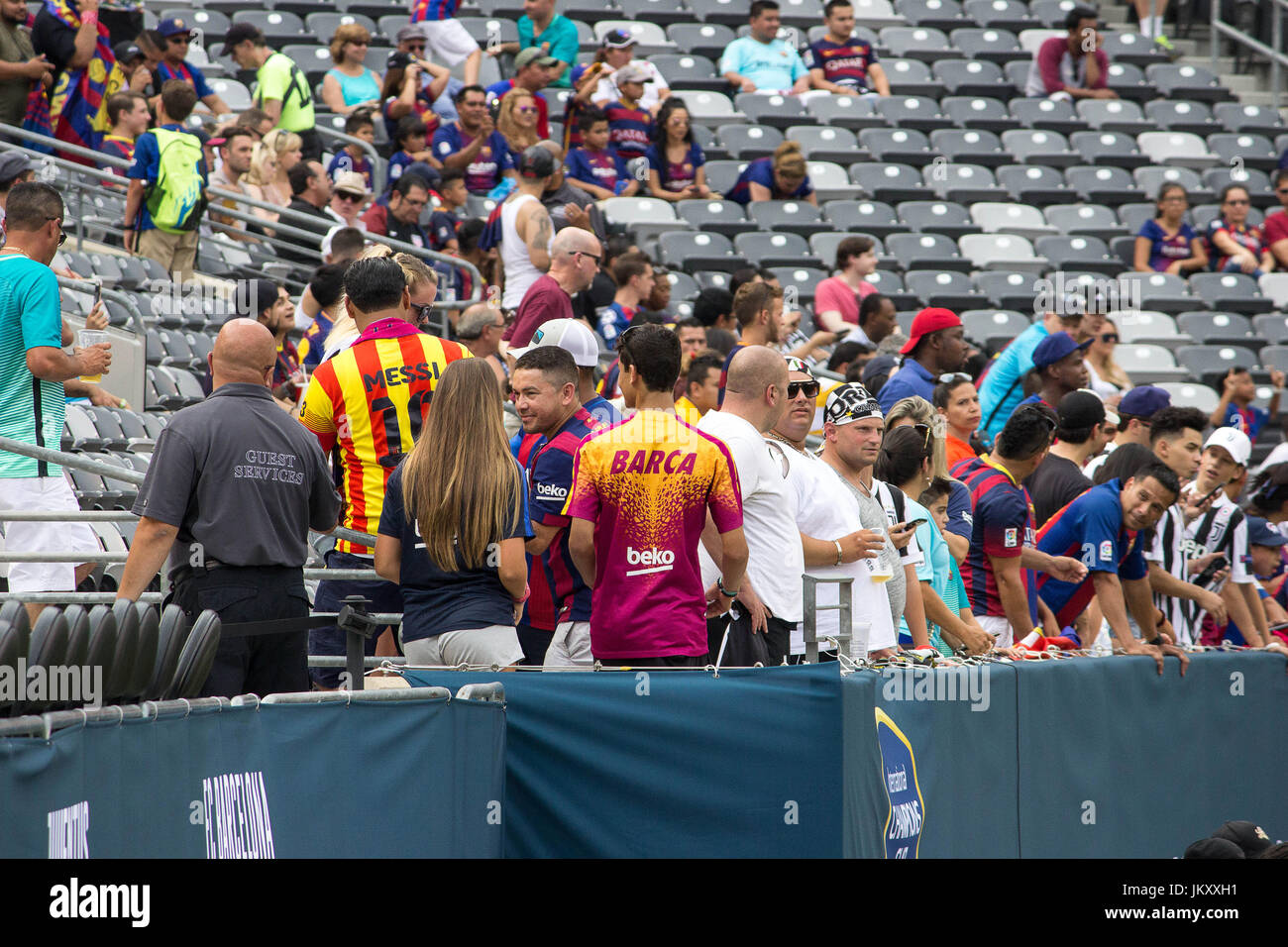Exhibition Match-Spanish La Liga powerhouse FCBarcelona takes on Italian Serie A Champs Juventus during the 2017 - Stock Image