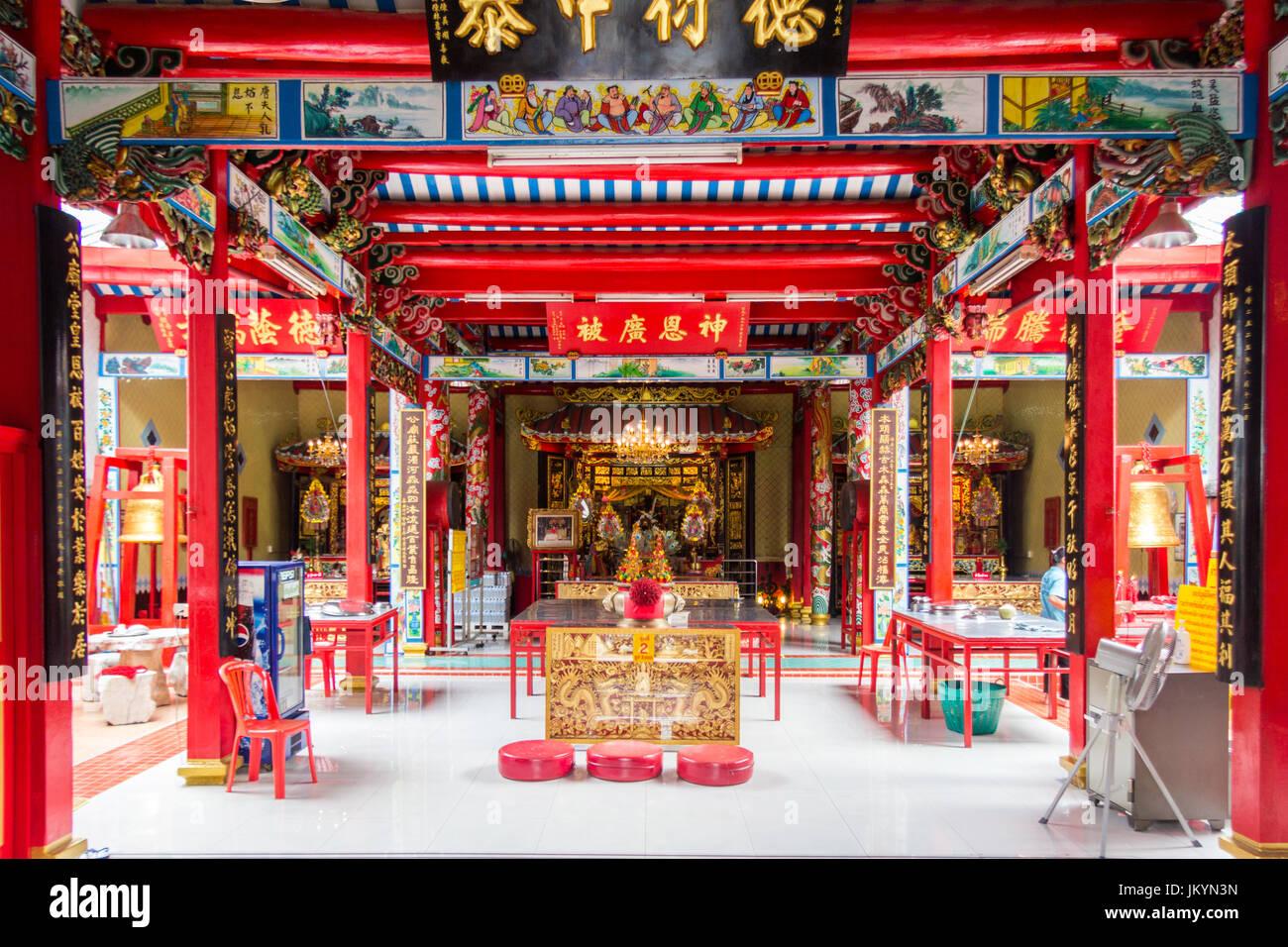 Interior of chinese temple Chinatown, Bangkok, Thailand Stock Photo: 149970681 - Alamy