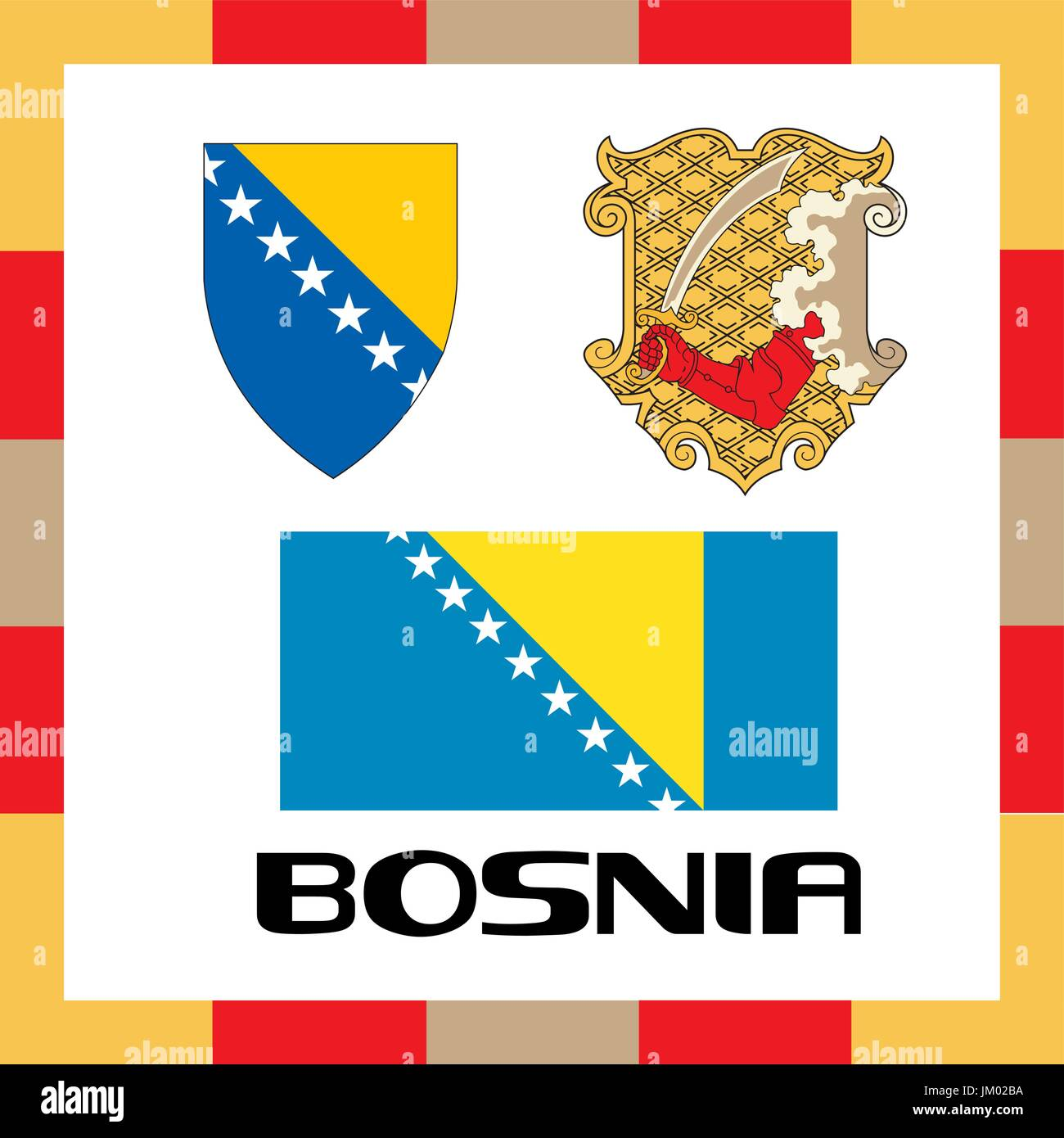 Official government ensigns of Bosnia - Stock Vector