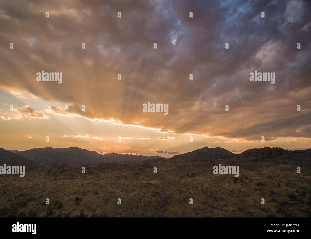 Sunset in Colorado - Stock Image