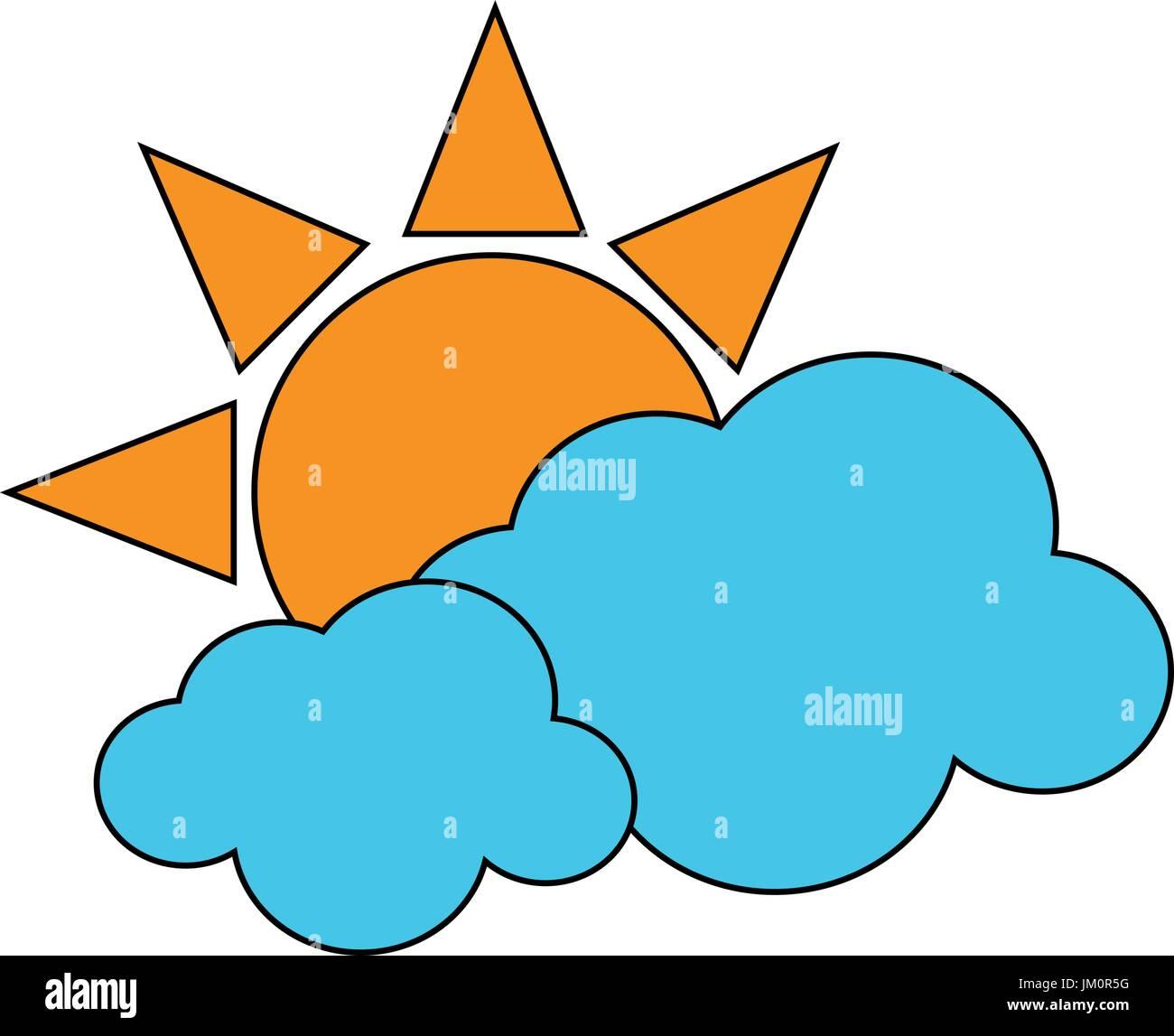 beautiful sunny day - Stock Vector