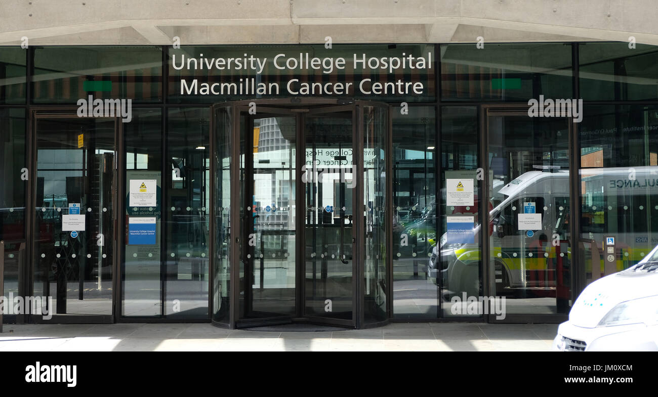 MacMillan Cancer Centre as UCH in London     Pic by Gavin Rodgers/Pixel 8000 Ltd - Stock Image